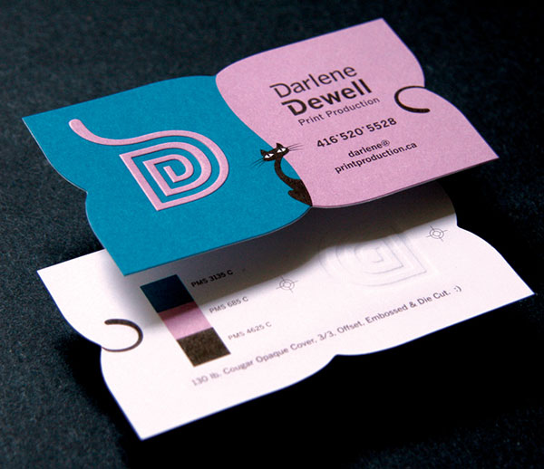 Darlene Cards beautiful business card design 30+ Beautiful Examples of Modern Business Card Designs for Inspiration