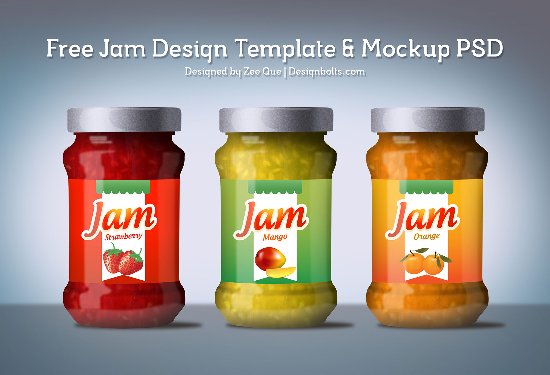Free Jam Label Design Template U0026 Jam Jar Mockup PSD  Label Design Templates