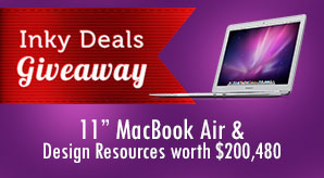 Inky-Deals-Giveaway-11-MacBook-Air-&-Design-Resources