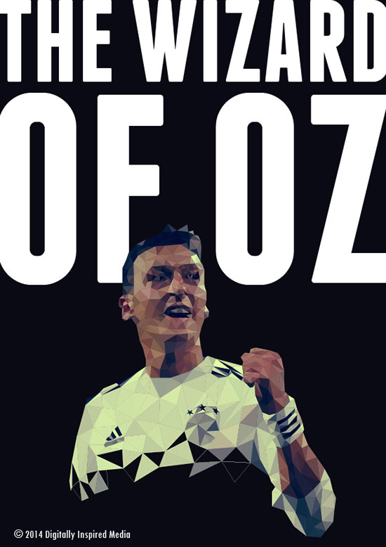 Mesut-Ozil-The-Wizard-Of-OZ-World-Cup-2014-poster