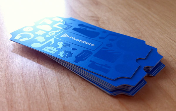 Ticket-style-UV-Coated-Business-card-example