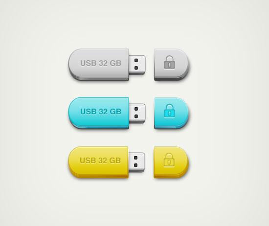 free_USB-icons_psd
