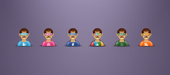 free_avatars_psd