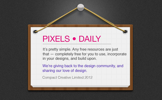 free_message-board_psd_file