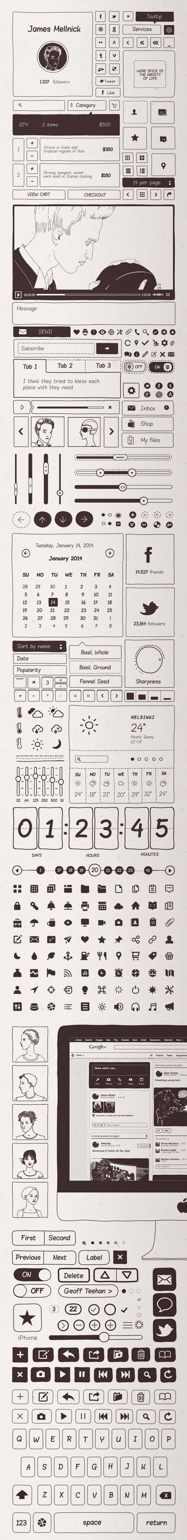 Basiliq-Freehand-UI-design-Kit