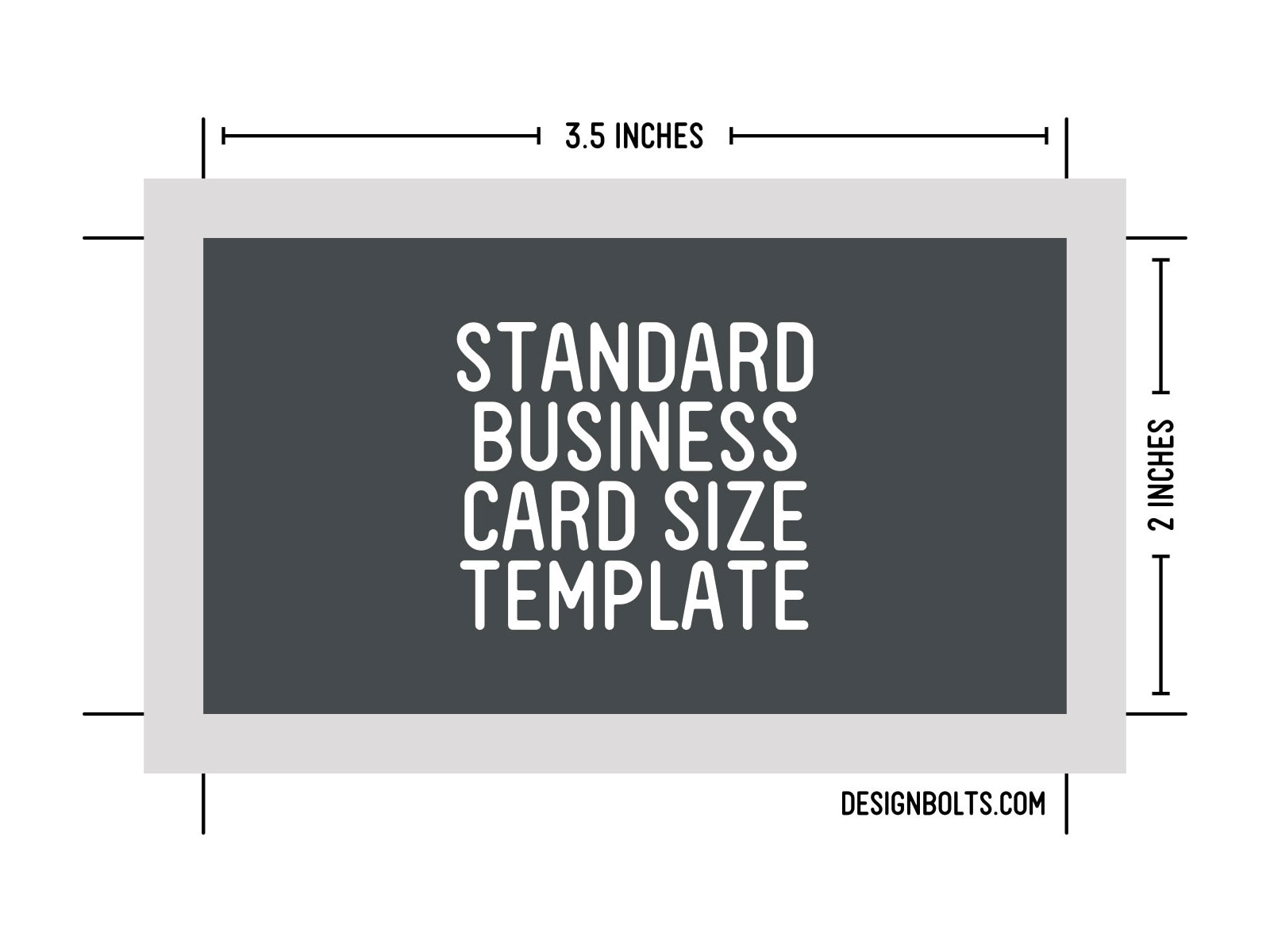 Free Standard Business Card Size, Letterhead & Envelop Sizes ...