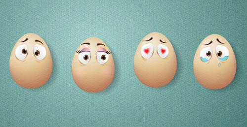 Egg-Characters-Blend-Tool-Adobe-illu-tutorial
