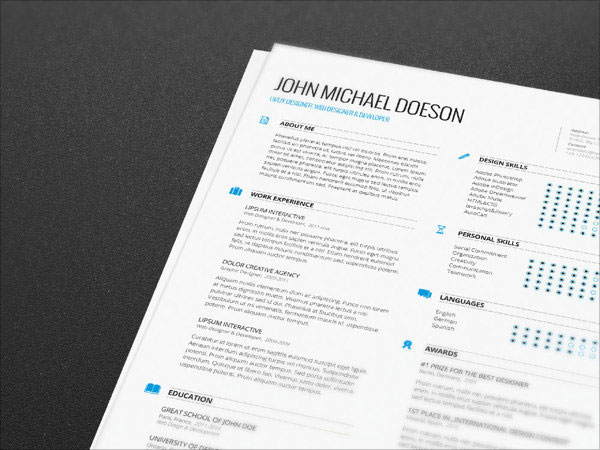 Exceptional Cv Template Indesign