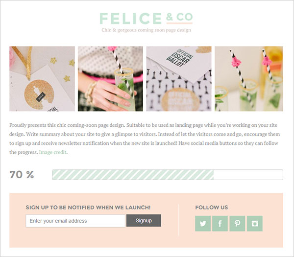 Felice-Free-Coming-Soon-Under-Construction-Wordpress-Theme-For-female-Bloggers