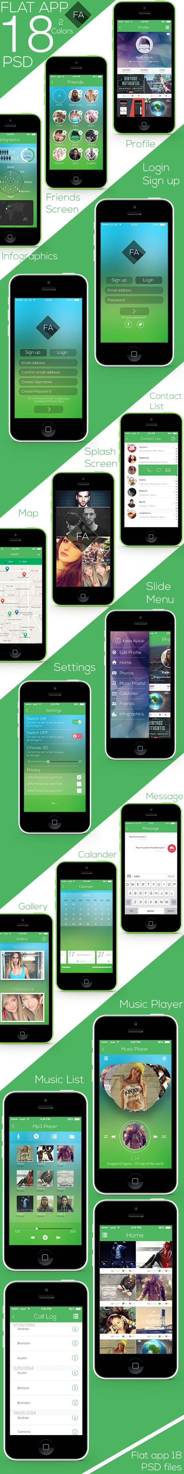 Flat-app-Ui-Full-Project-Free-Download