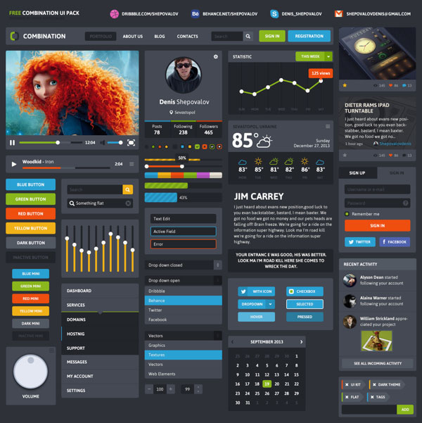 20  free best web ui elements  u0026 mobile gui design kits of 2014