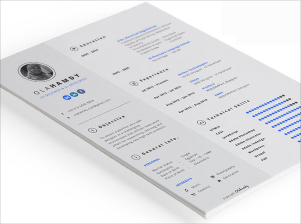 10 best free resume  cv  templates in ai  indesign  u0026 psd formats  u2013 designbolts