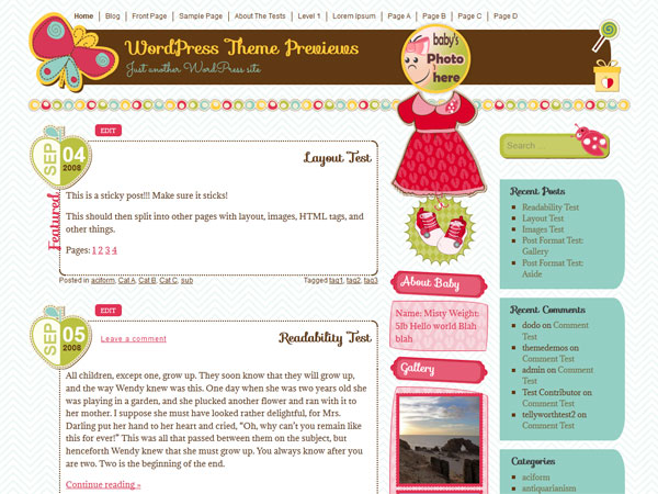 It-is-a-girl-free-colorful-wordpress-theme-for-girls