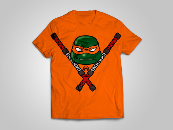 Michelangelo_T-shirt_design_free