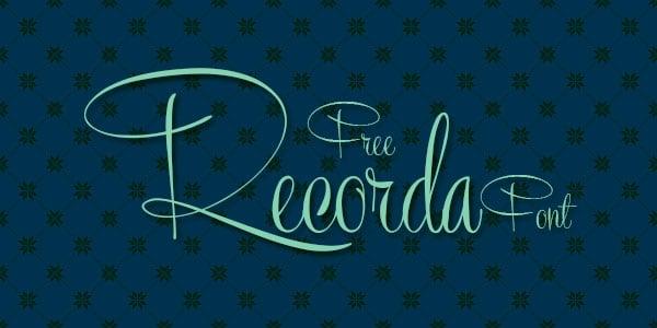 Recorda_Cursive-Font_freebie