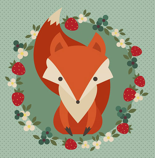 Retro-Fox-Illustration-Adobe-illustrator-Tutorial