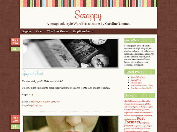 Scrappy-Fresh-Feminine-WP-Theme