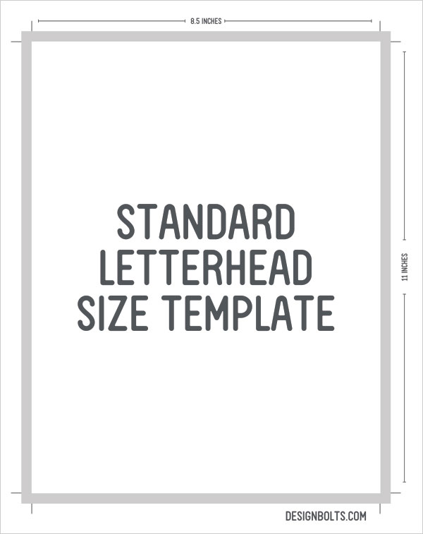 Standard-Letterhead-Size Template Card X In Letter Size on