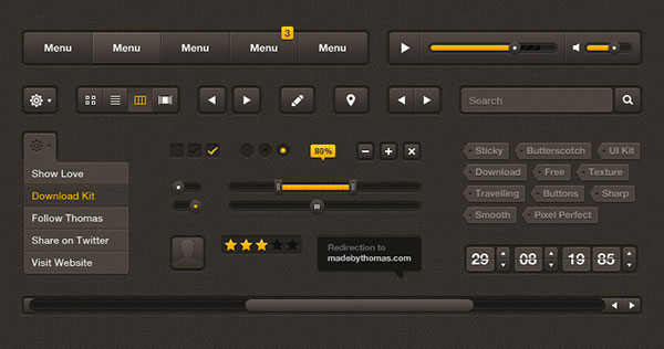 Sticky-Butterscotch-UI-Kit---Free-PSD