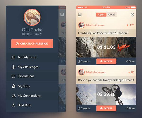 ios7-Free-mobile-app-ui-kit