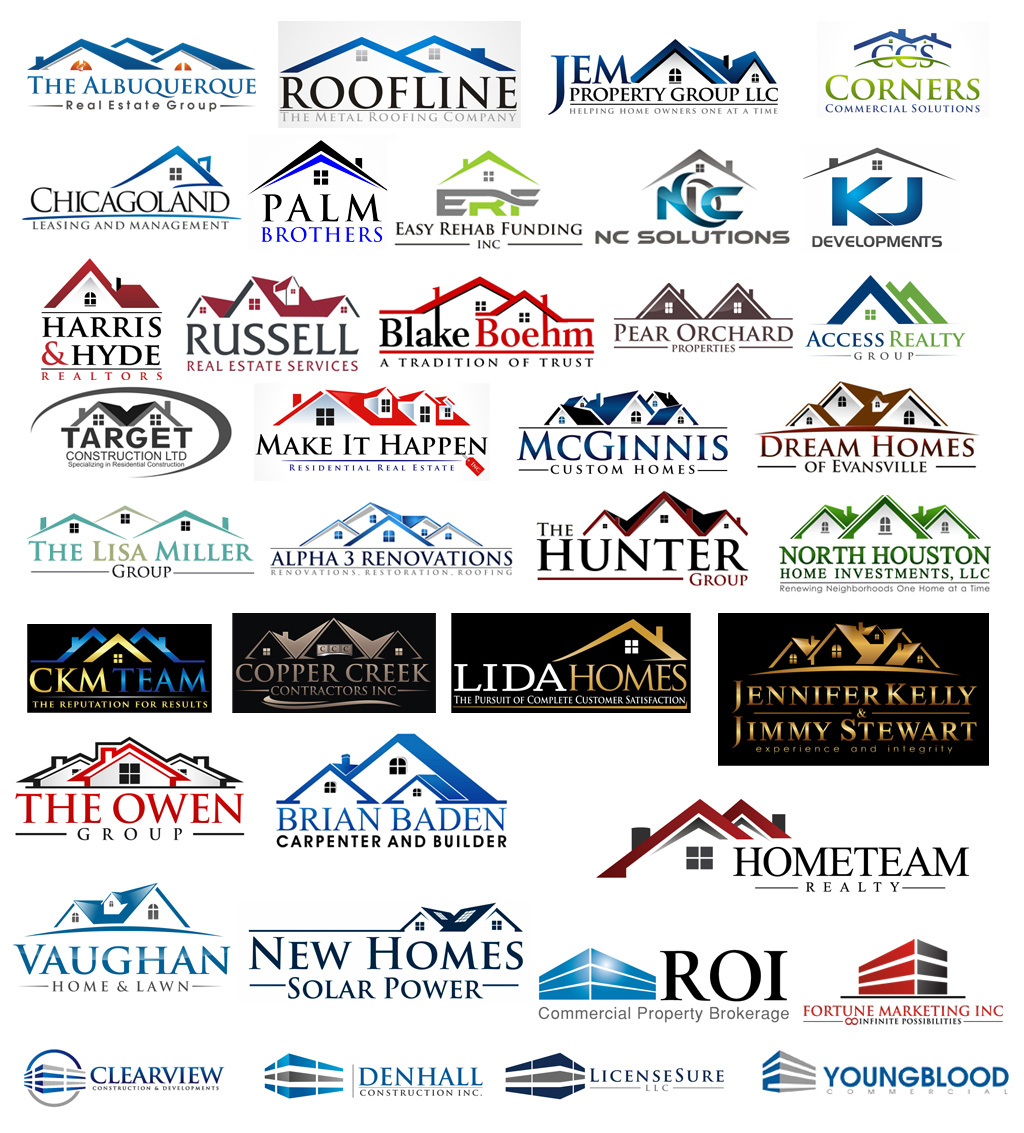 40 real estate construction logo designs share on for House construction companies