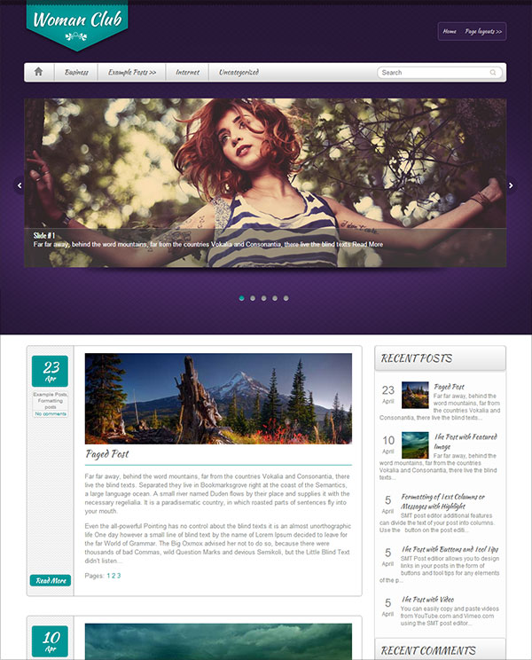 women-club-wordpress-theme-for-business-website