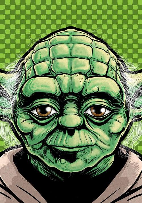 Yoda Character Design : Stunning head shots of superheroes villains cartoon