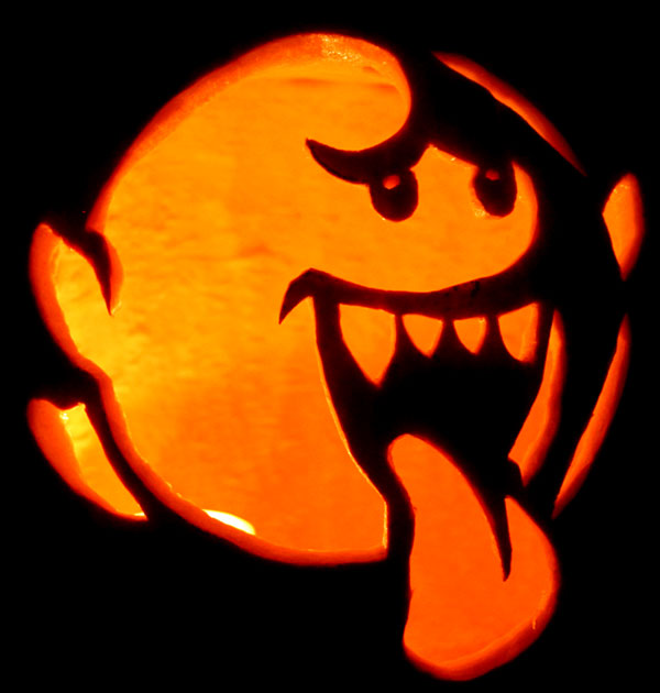 60 best cool creative scary halloween pumpkin carving for Boo pumpkin ideas