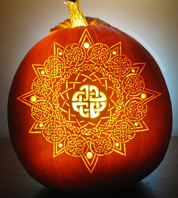 celtic cool halloween pumpkin design - Cool Halloween Pumpkin Designs