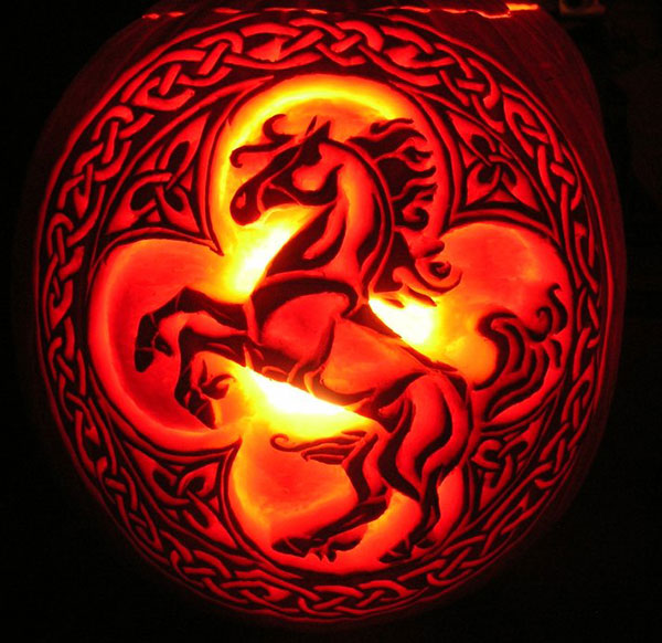 Celtic-Fire-Horse-Pumpkin-Carving-Ideas