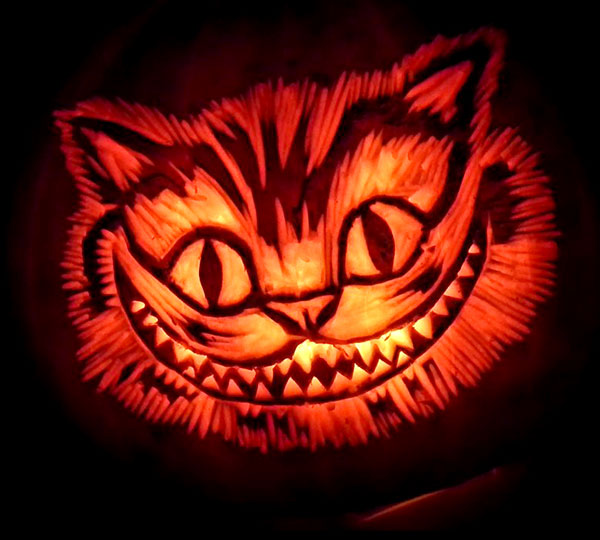 chesire cat pumpkin carving ideas - Pumpkin Halloween Carving