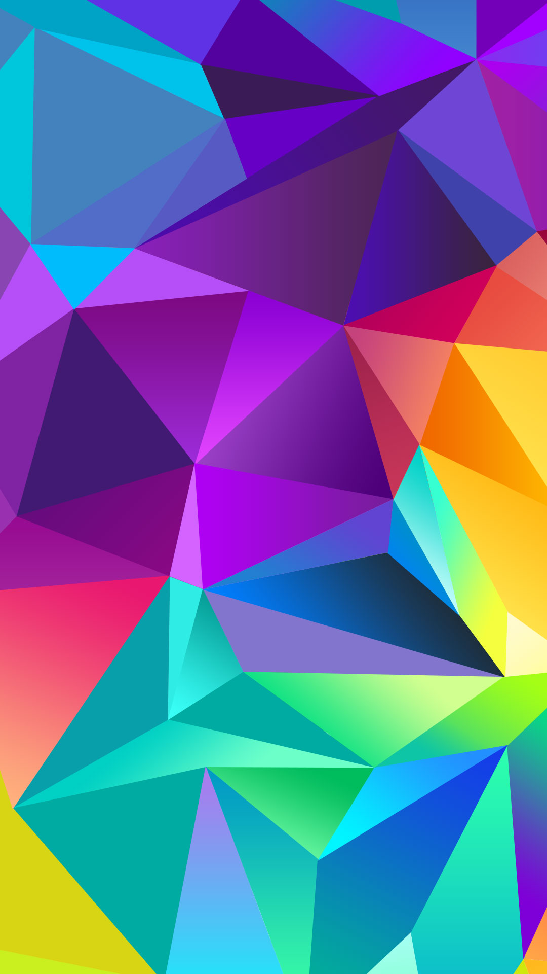Colorful Polygon IPhone 6 Plus Wallpaper