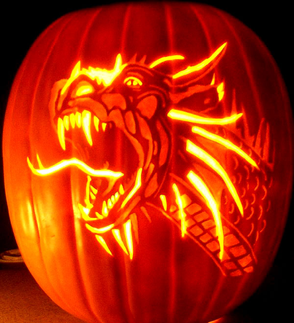 Dragon-Pumpkin-Carving-For-halloween-2014