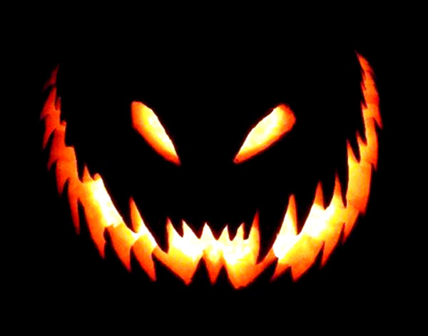 60 best cool creative scary halloween pumpkin carving for Evil face pumpkin template
