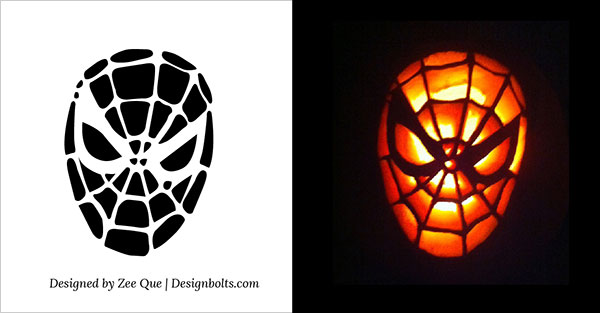 Free-Printable-spiderman_pumpkin_carving-Stencil-Ideas