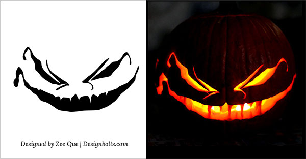 free scary halloween pumpkin carving patterns stencils - Free Scary Halloween Pumpkin Carving Patterns