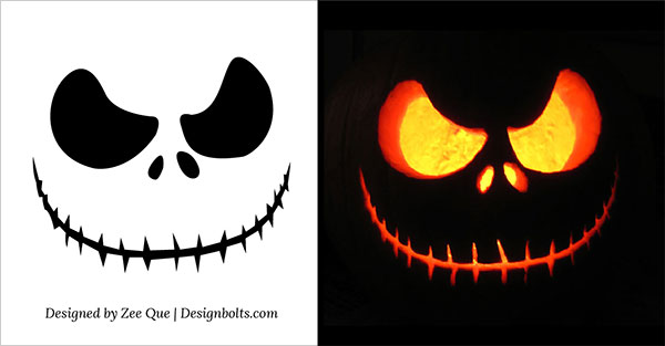 free scary halloween pumpkin carving patterns stencils - Cool Halloween Pumpkin Designs