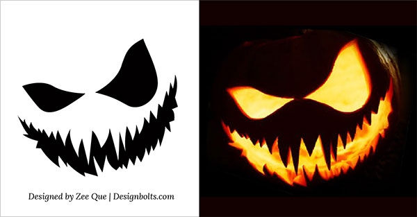 Easy scary pumpkin carving stencils