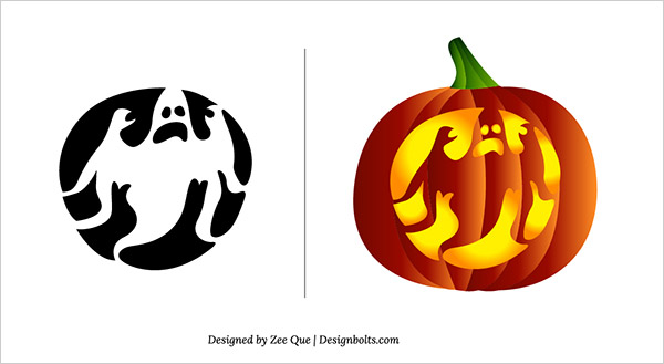 10 free halloween scary pumpkin carving patterns stencils ghost pumpkin carving pattern free scary pumpkin carving patterns stencils 05 maxwellsz