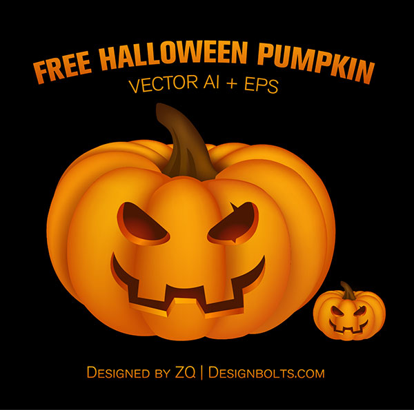 Free Vector Pumpkin Ai EPS 01 Free Halloween 2014 Pumpkin | Vector Ai, Eps & PNG Icon