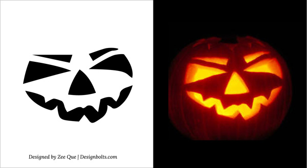 Free-printable-Scary-Halloween-Easy-Pumpkin-Carving-Stencils-