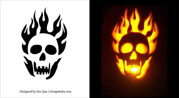 10 Free Printable Scary Pumpkin Carving Patterns, Stencils & Ideas