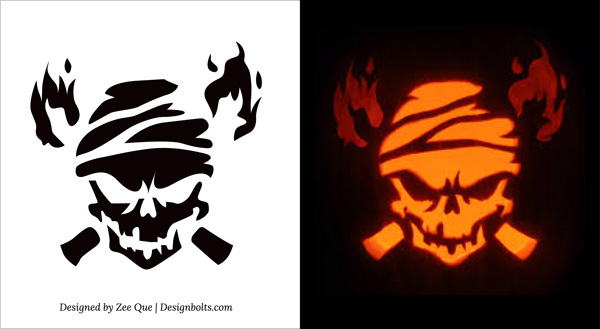 graphic regarding Skeleton Stencil Printable called 10 Totally free Printable Daunting Pumpkin Carving Habits, Stencils