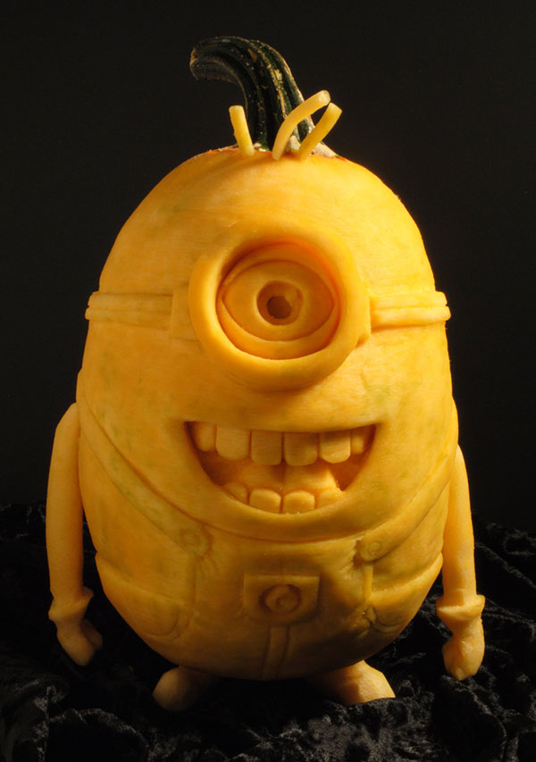 4 halloween minion pumpkin carving - Pumpkin Halloween Carving