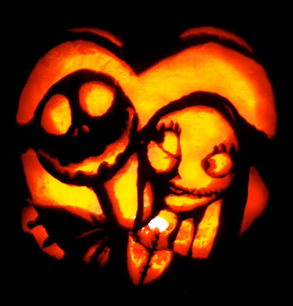 Jack-And-Sally-Pumpkin-Carving-2014
