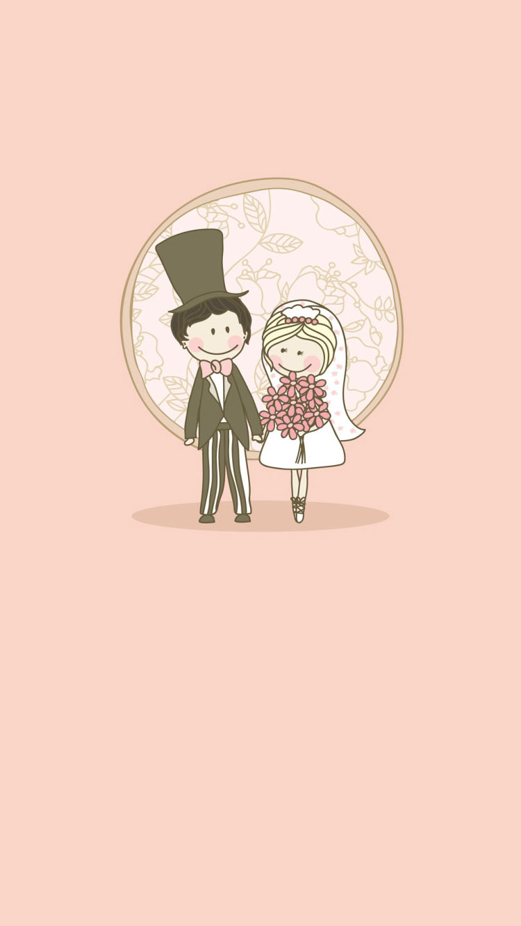 Just-Married-iPhone-6-Wallpaper