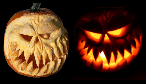 Spooky-pumpkin-carving-before-after
