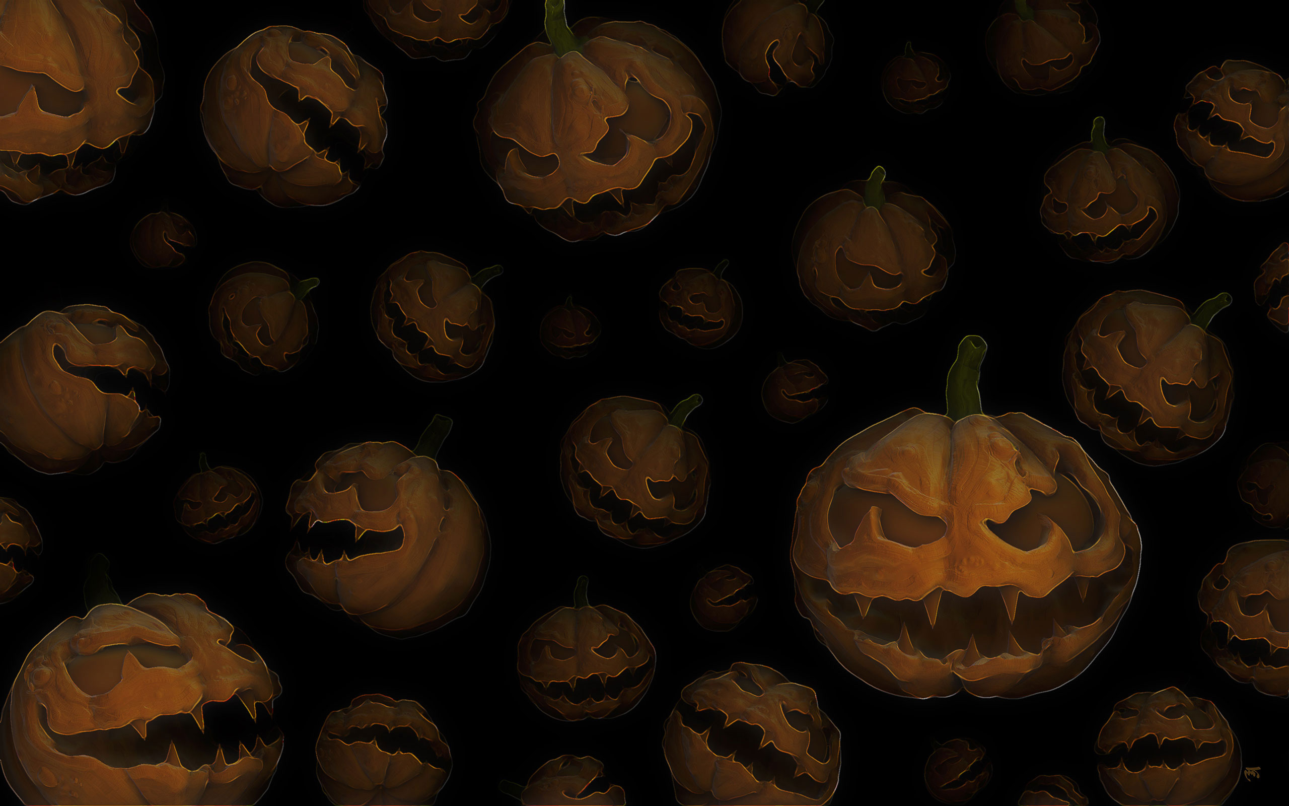 halloween website background pumpkins 2560 x 1600