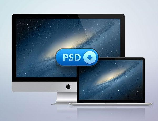 iMac+MacBook-Retina-Free-PSD