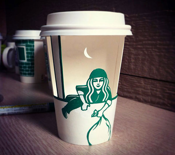 Creative-Yet-Funny-Illustrations-with-Starbucks-Logo-Soo-Min-Kim (10)